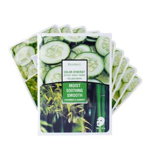 Deoproce Color Synergy Effect Sheet Mask - Yellow Green (10 sheets)-0